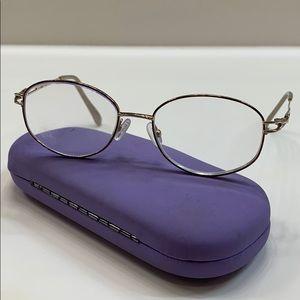 Seiko Eyeglass Frame Pure Titanium Gold Full Rim